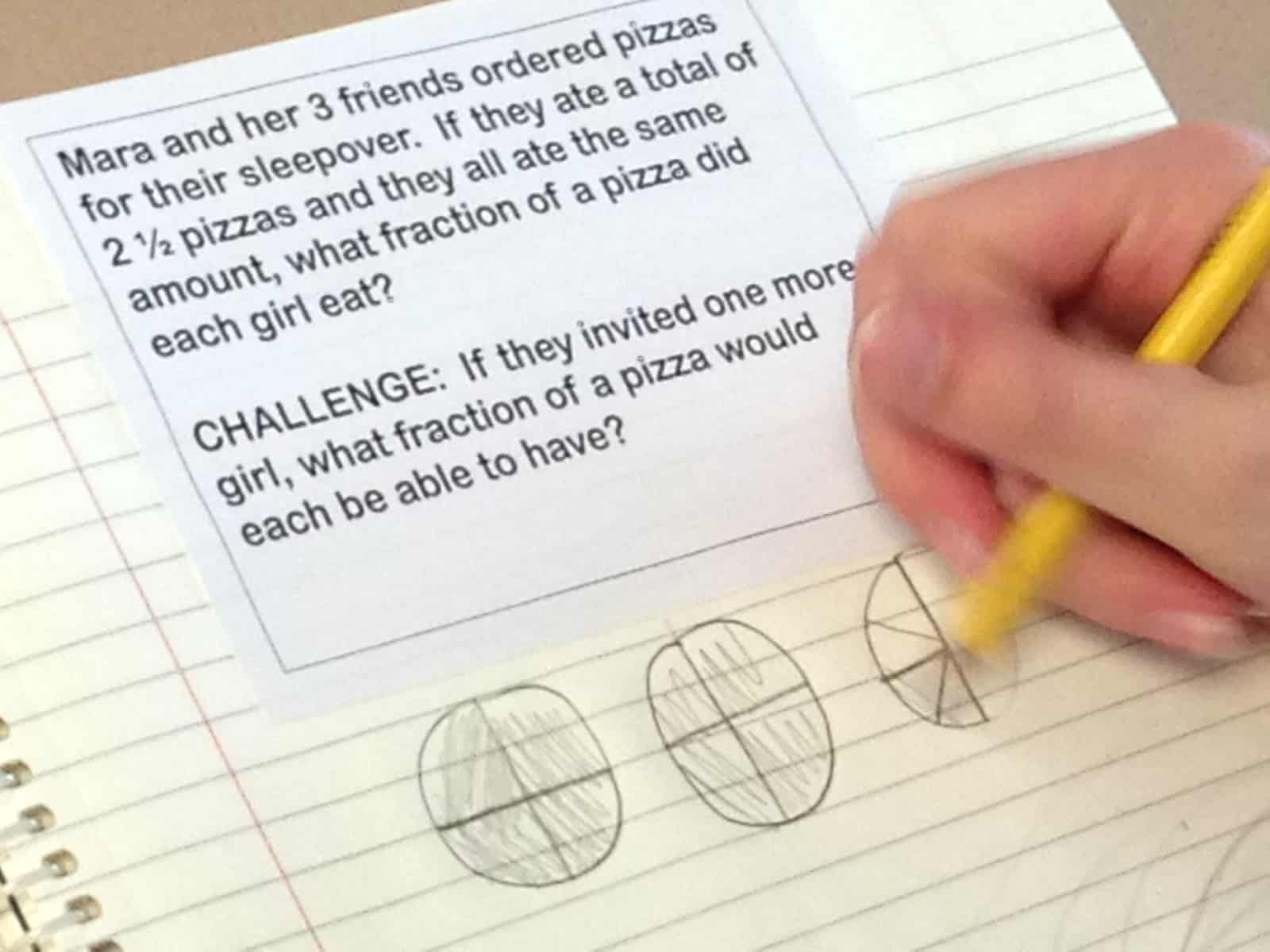 common core and decompose fractions lesson plans