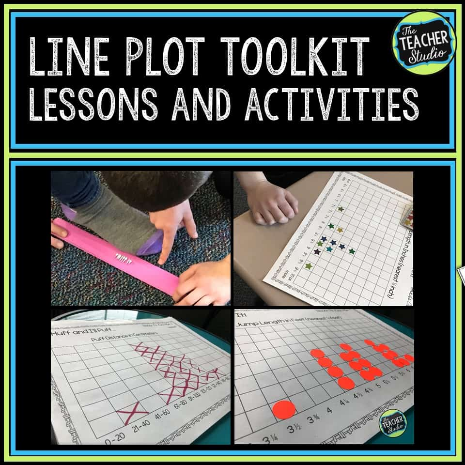 lessons for line plots, line plot printables, line plot activities, line plot assessments