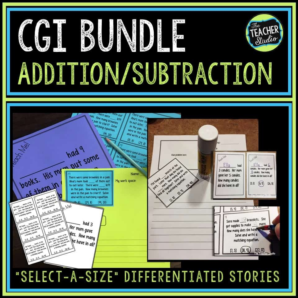 Addition and Subtraction Word Problems with CGI