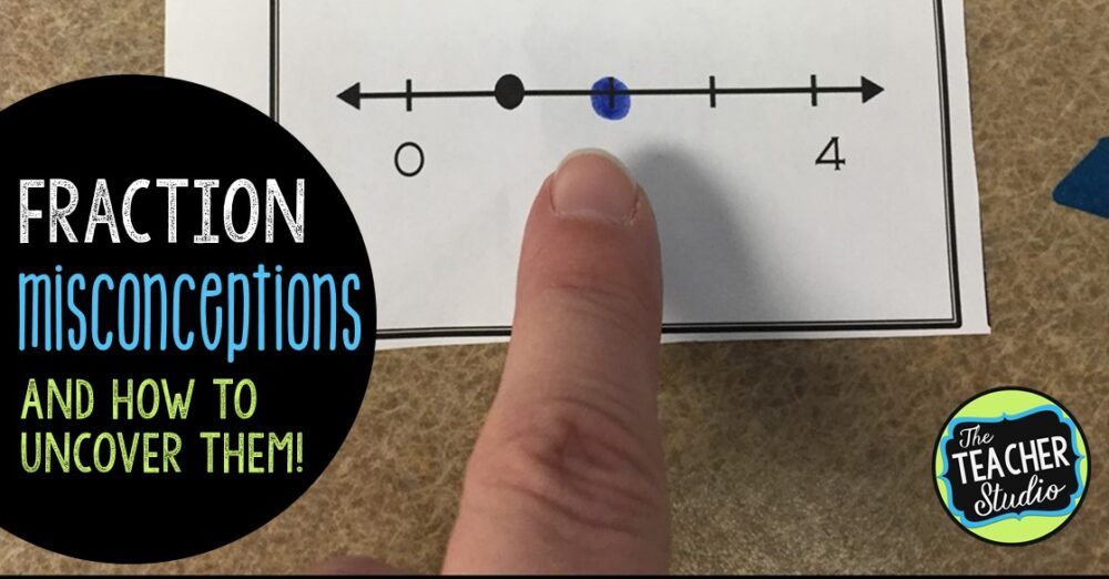 Teaching fractions can be challenging but this blog post gives fraction teaching ideas to help you uncover math misconceptions