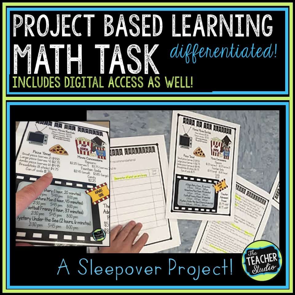This project based learning task is so engaging and gets students solving problems and doing rigorous math tasks.