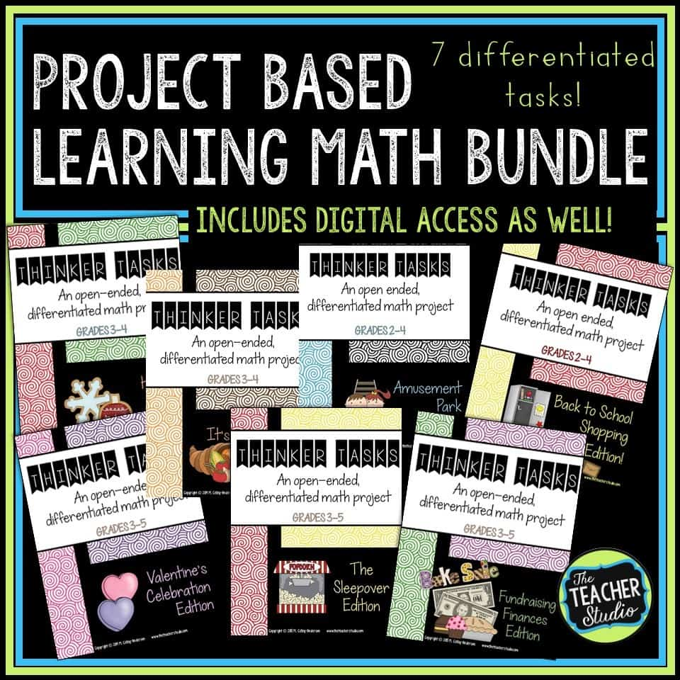 Project based learning tasks are perfect for collaborative learning, increasing math talk, and developing problem solving.