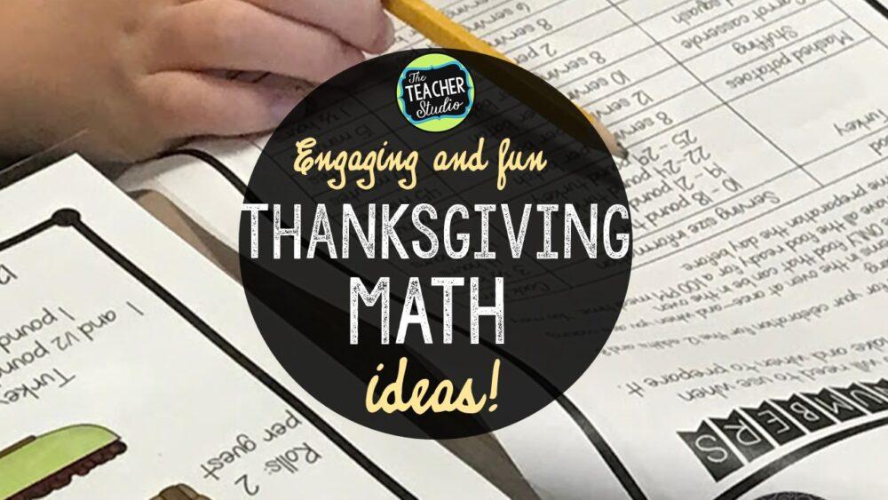 Thanksgiving math ideas
