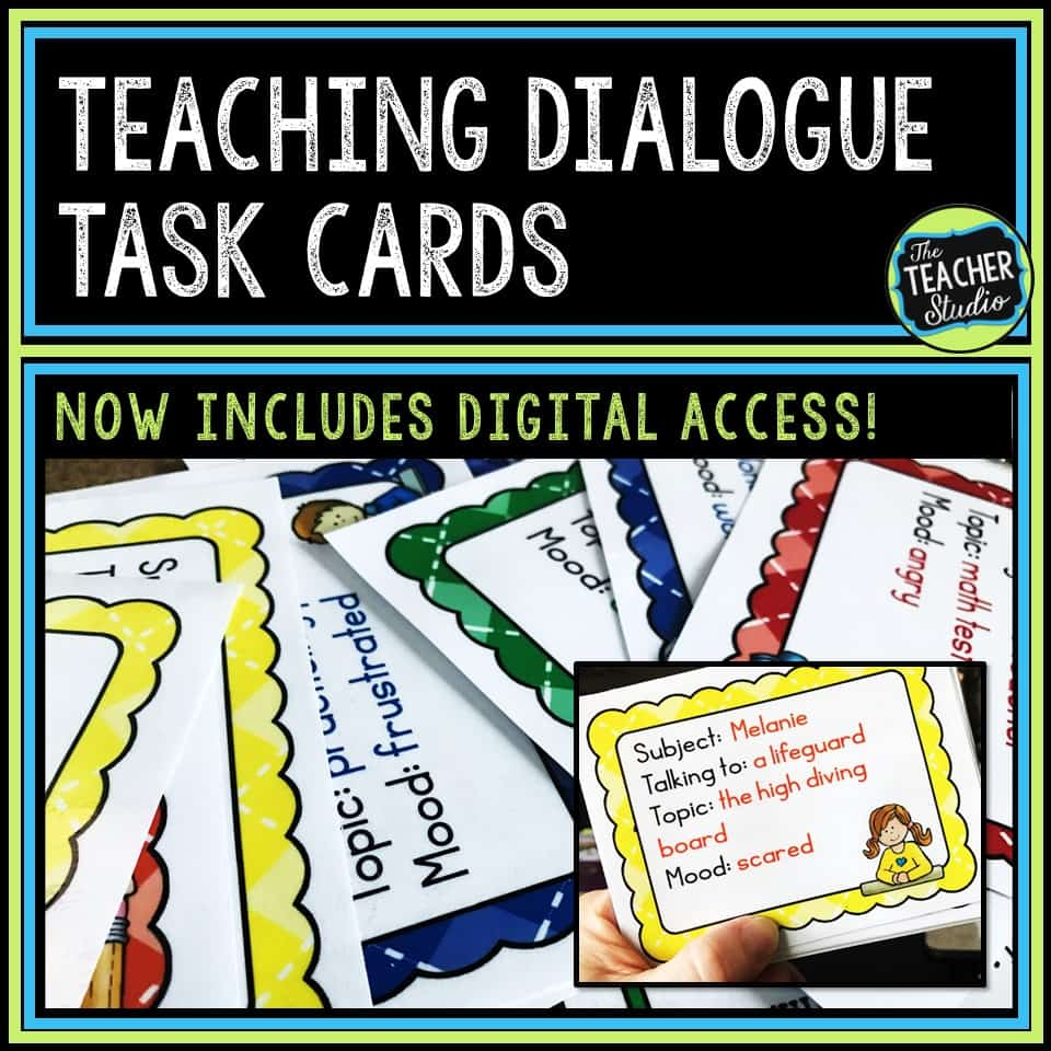 Teaching writing and punctuating dialogue