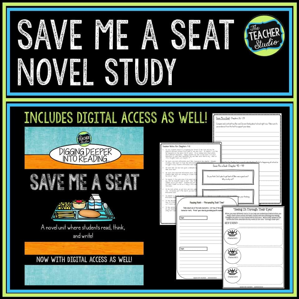Save Me a Seat is a wonderful novel told from two characters' point of view.  It's a great read aloud option for teaching empathy and so much more!