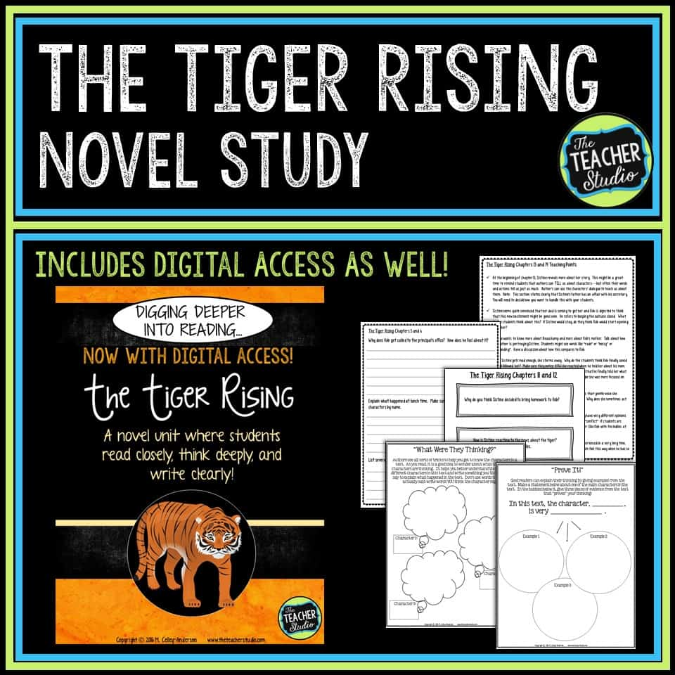 The Tiger Rising is a wonderful text to use to teach comprehension strategies. Check out the post for more!
