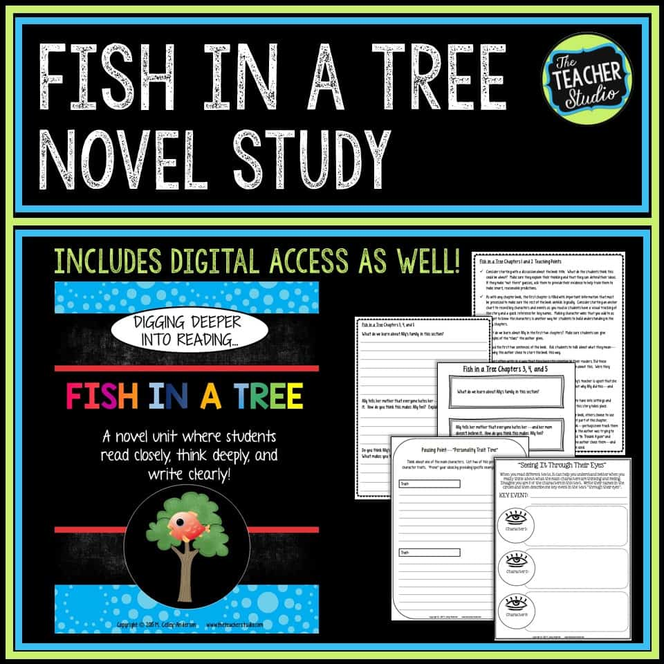 Fish in a Tree Novel Study and Fish in a Tree lessons