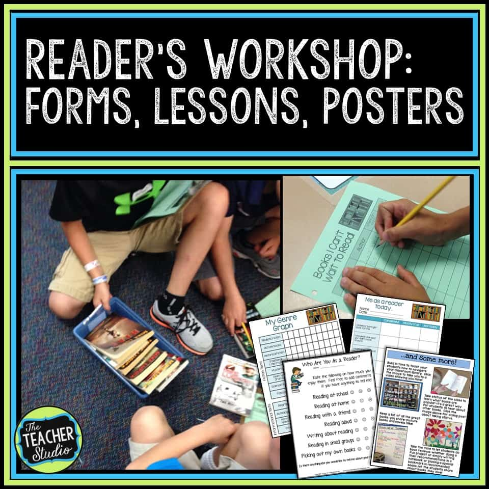 Getting ready for a year of reader's workshop with forms, anchor charts, lesson ideas, and more!