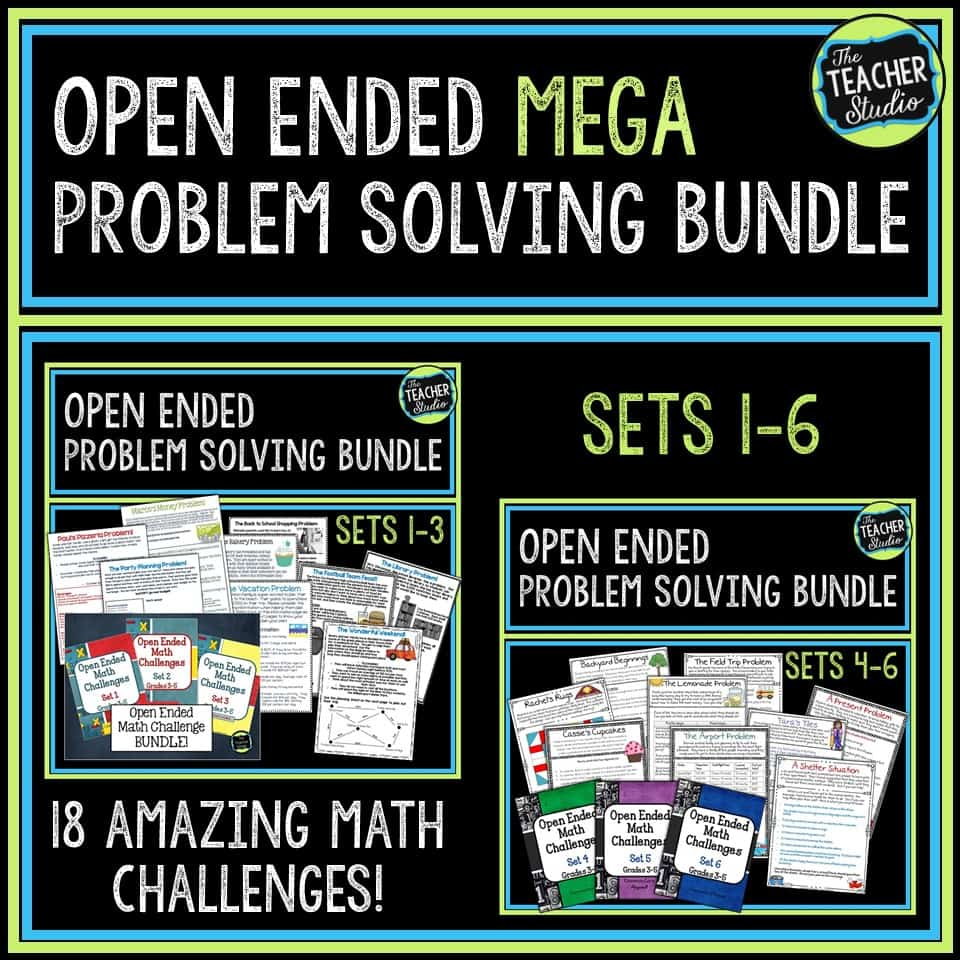Teaching open ended math problem solving challenges