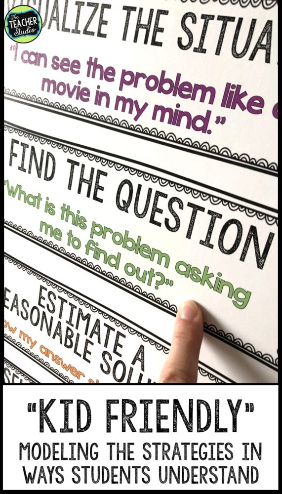 word problems, problem solving, gradual release of responsibility, anchor charts