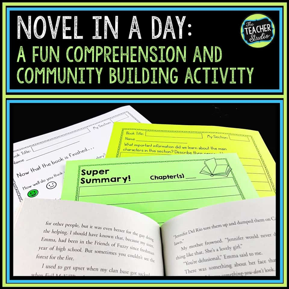 novel study, reading comprehension, cooperative learning, independent reading, reading lesson