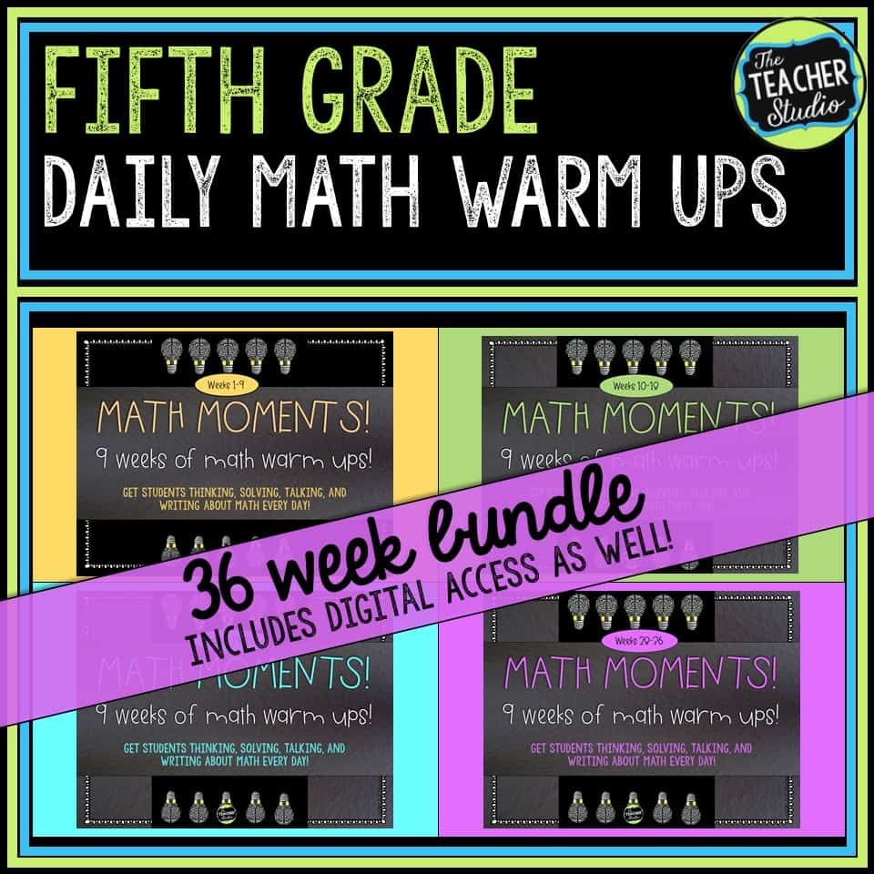Daily math warm ups for fifth grade!