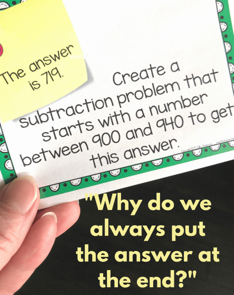addition and stubtraction computation practice cards