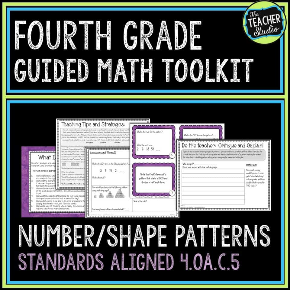 This resource can help you understand how to teach the math standard 4.OA.C.5 which involves number patterns and shape patterns.