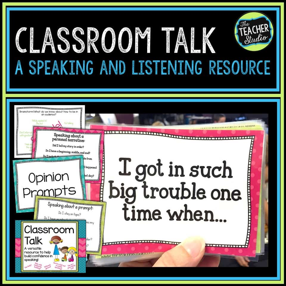 Teaching speaking and listening and accountable talk is so important.  Read this post for more!