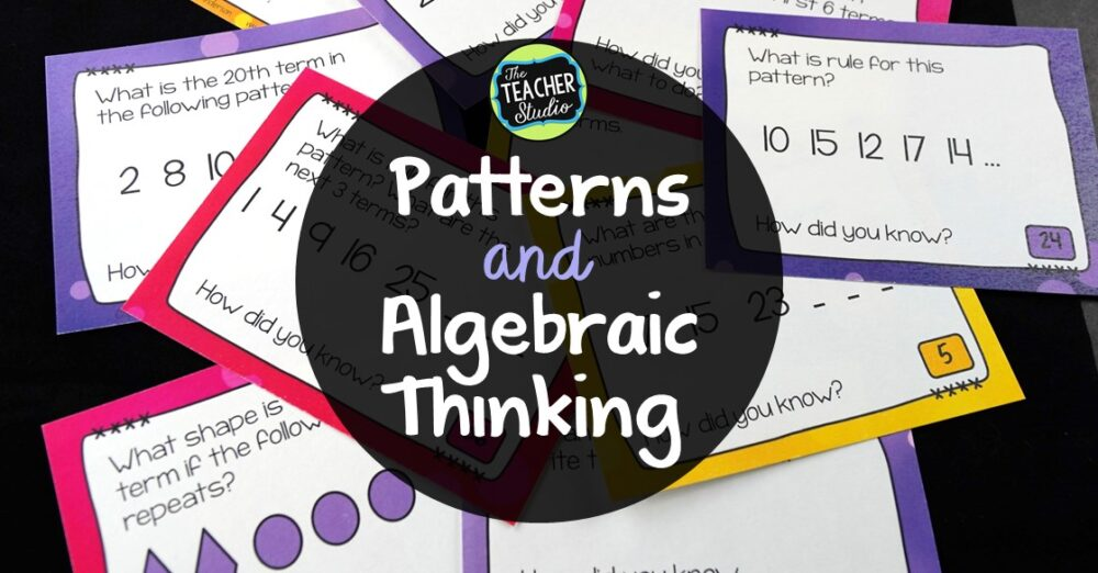 This blog post will help you see the importance of teaching patterns and algebraic thinking up elementary math class.