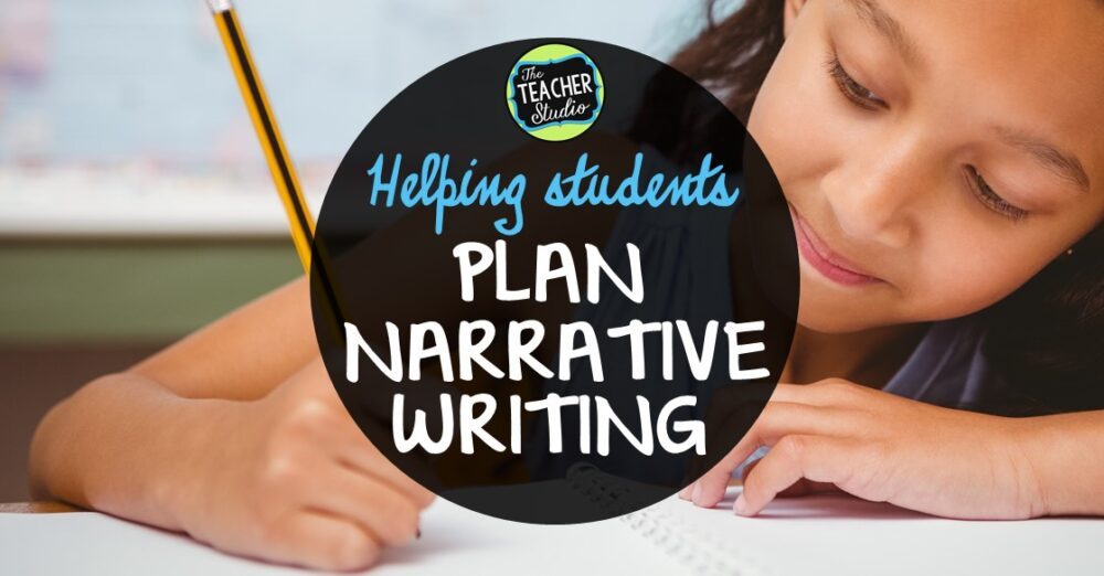 Blog post about how we can help student with the writing process by planning and organizing narrative writing through the gradual release model.