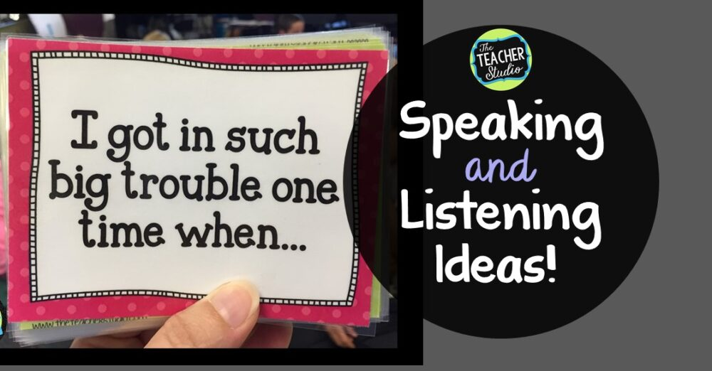 Teaching tips for accountable talk, speaking, and listening!
