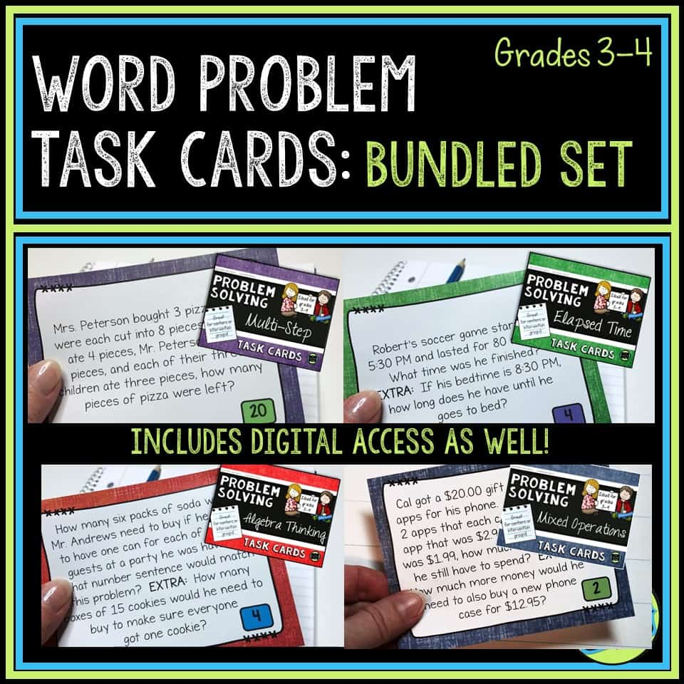 Blog post about teaching problem solving and how to use word problems more effectively.