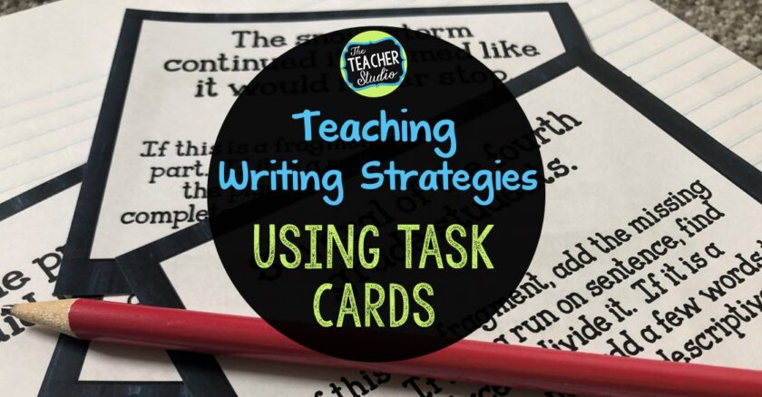 Using task cards to teach writing skills is a great and engaging teaching method.