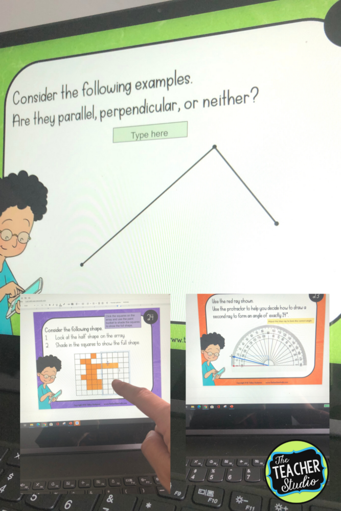 Using digital slides to help teach geometry concepts is perfect for distance learning, keeping students engaged, and so much more!