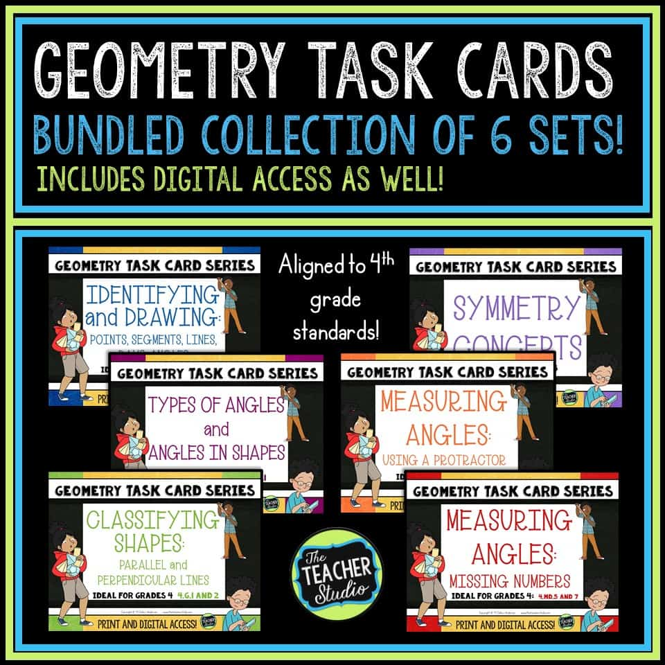 Teaching geometry lessons can be so much easier with this bundle of geometry activities to teach so many standards-based geometry concepts