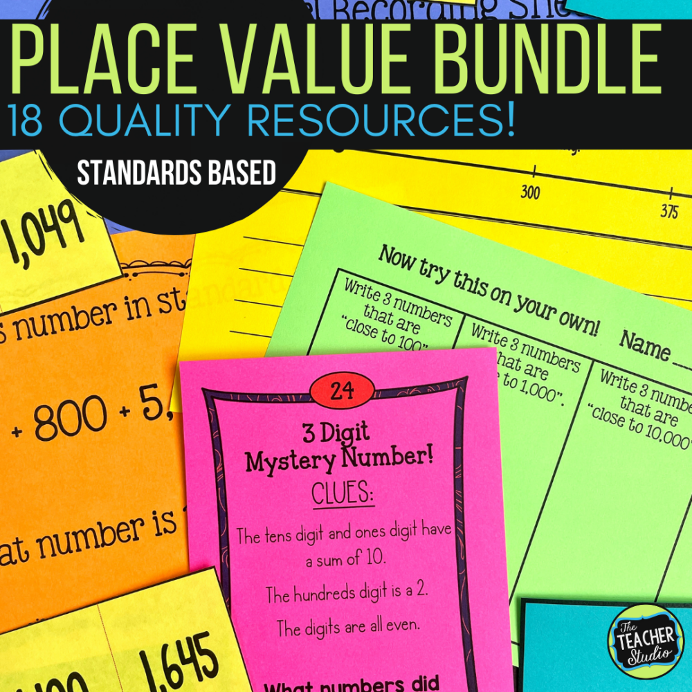 place value activities and place value worksheets