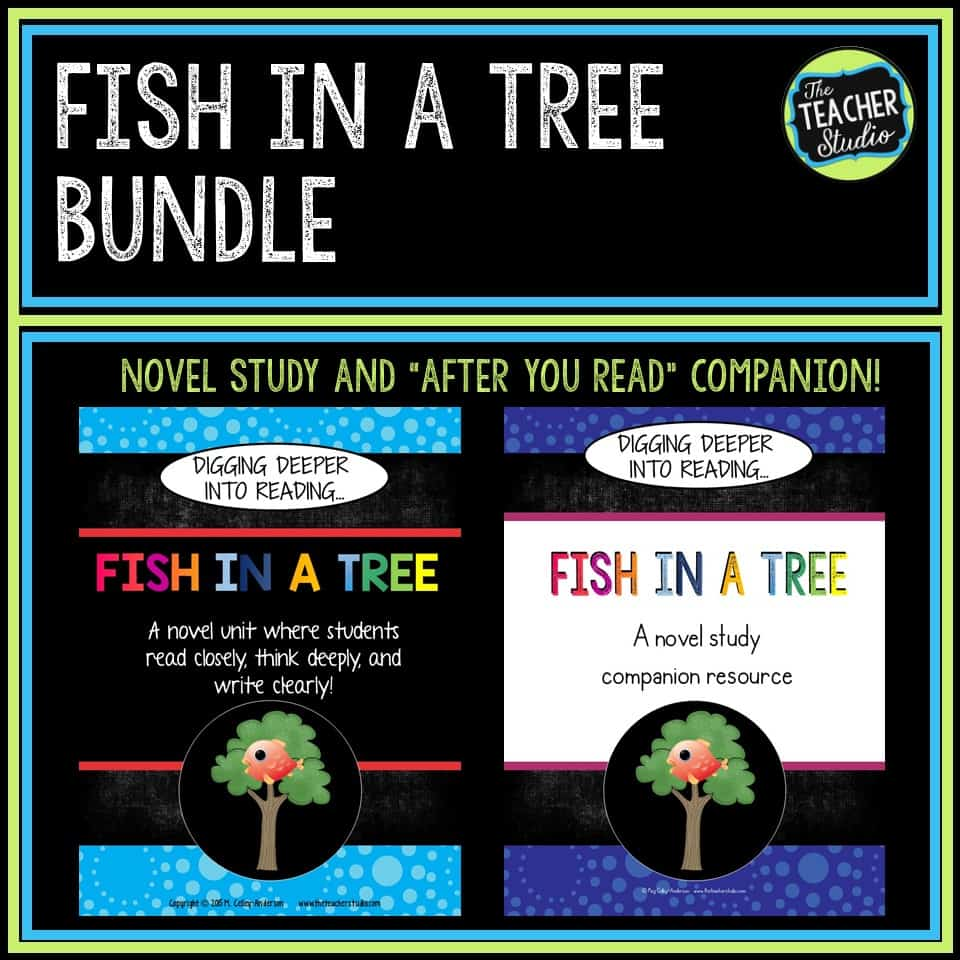 Fish in a Tree novel study and activity bundle