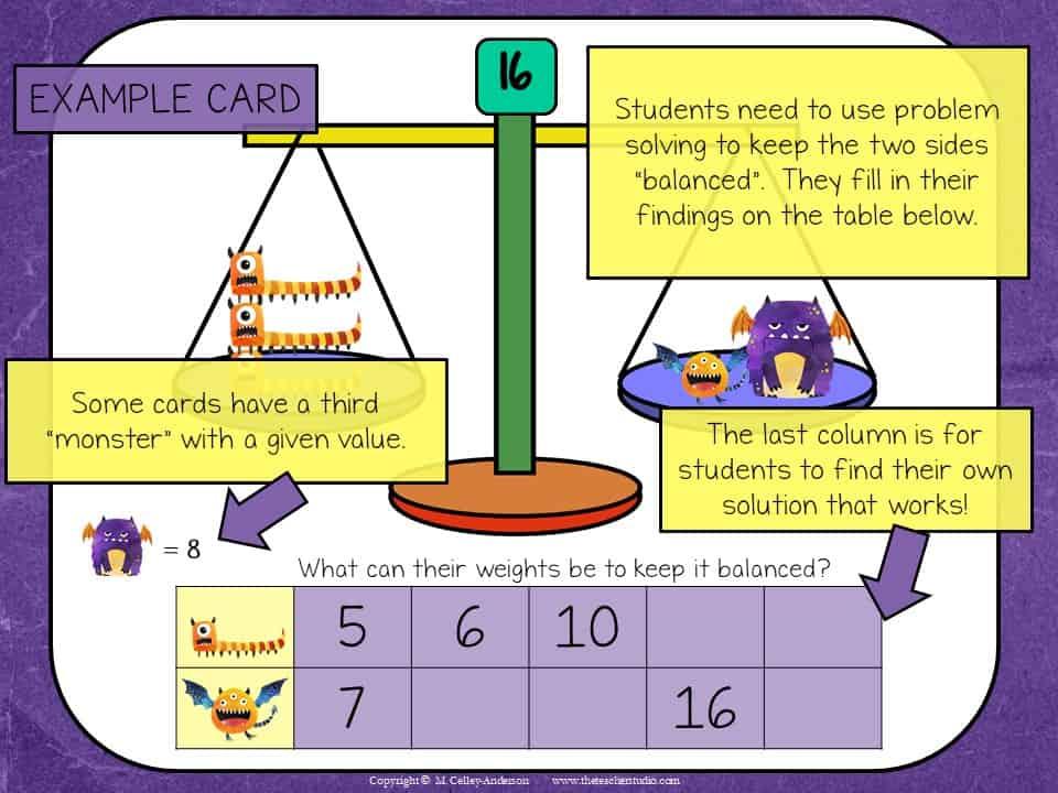 Algebraic Thinking activities build number sense!