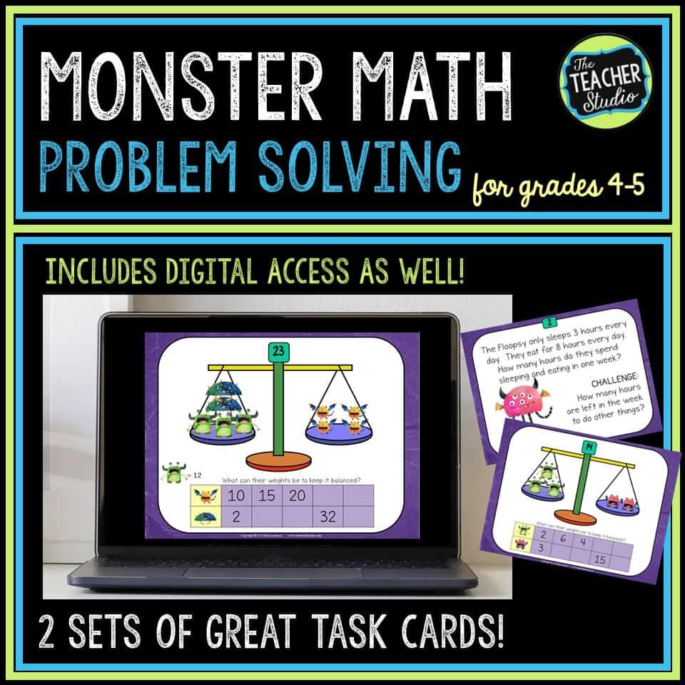 Monster Math problem solving