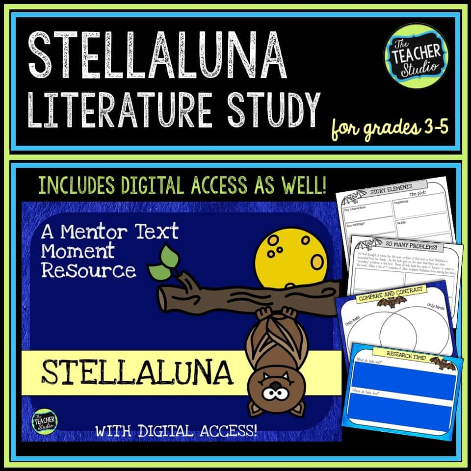 Teaching ideas and comprehension lessons for Stellaluna