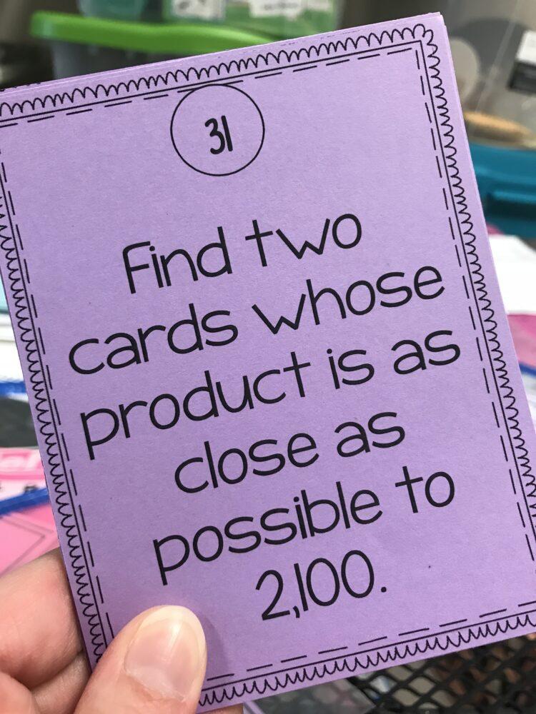 Multiplication Challenge Task Cards