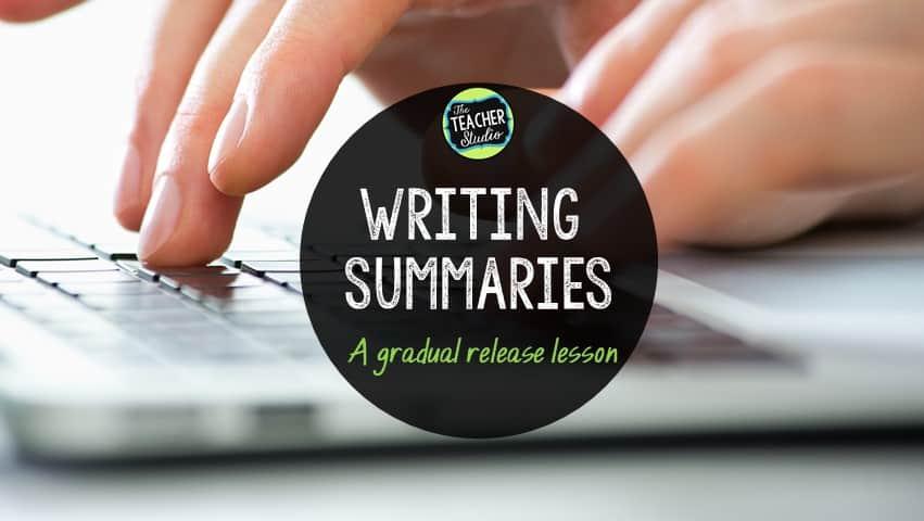 Writing Summaries Activities