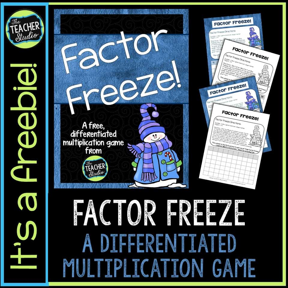 Free Multiplication Facts Game