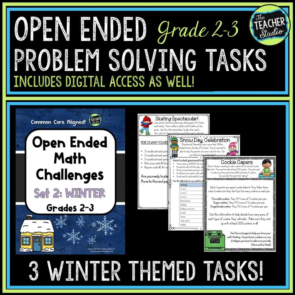Open Ended Math Challenges for Winter!