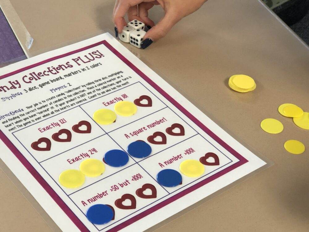 Valentine's multiplication game