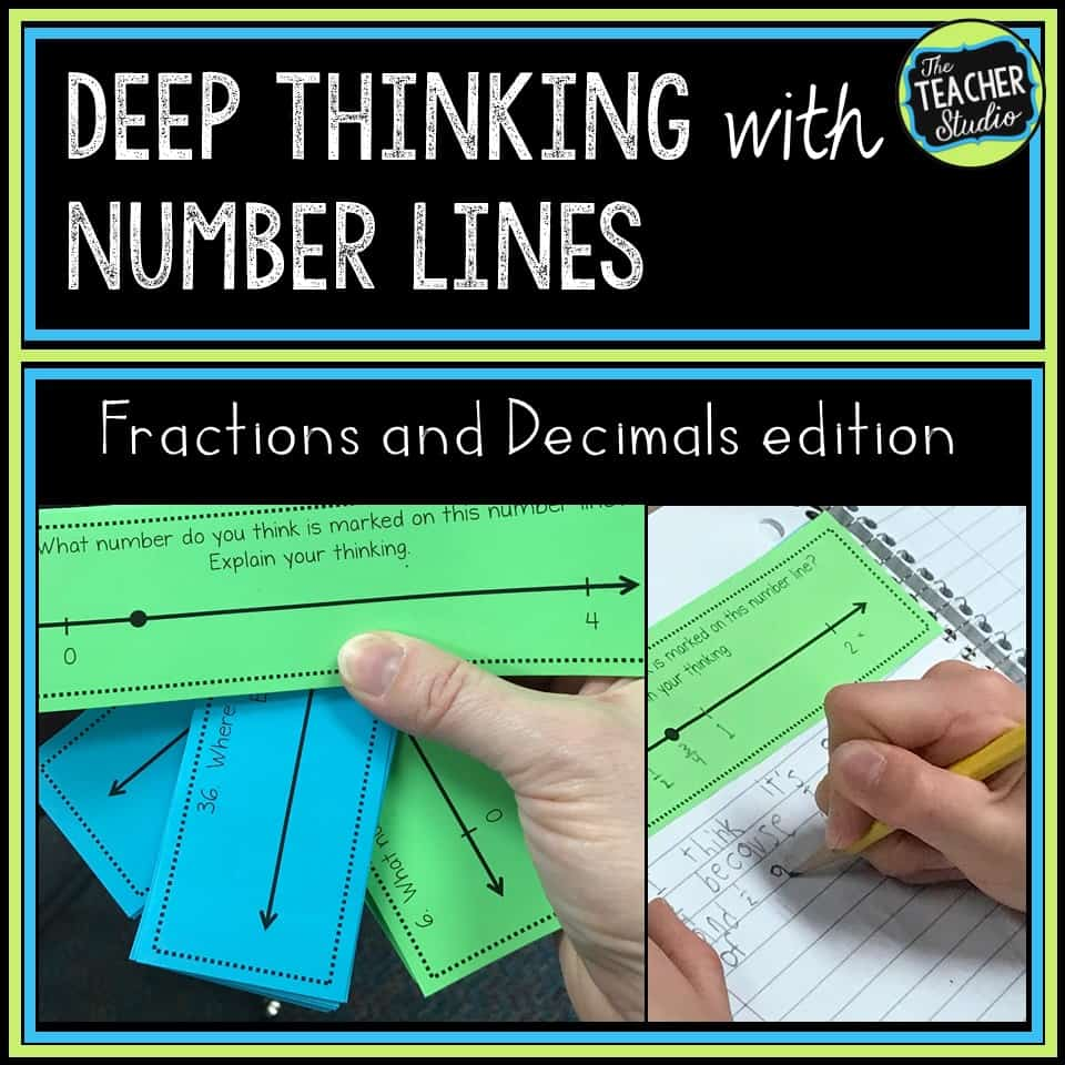 Using fraction number lines