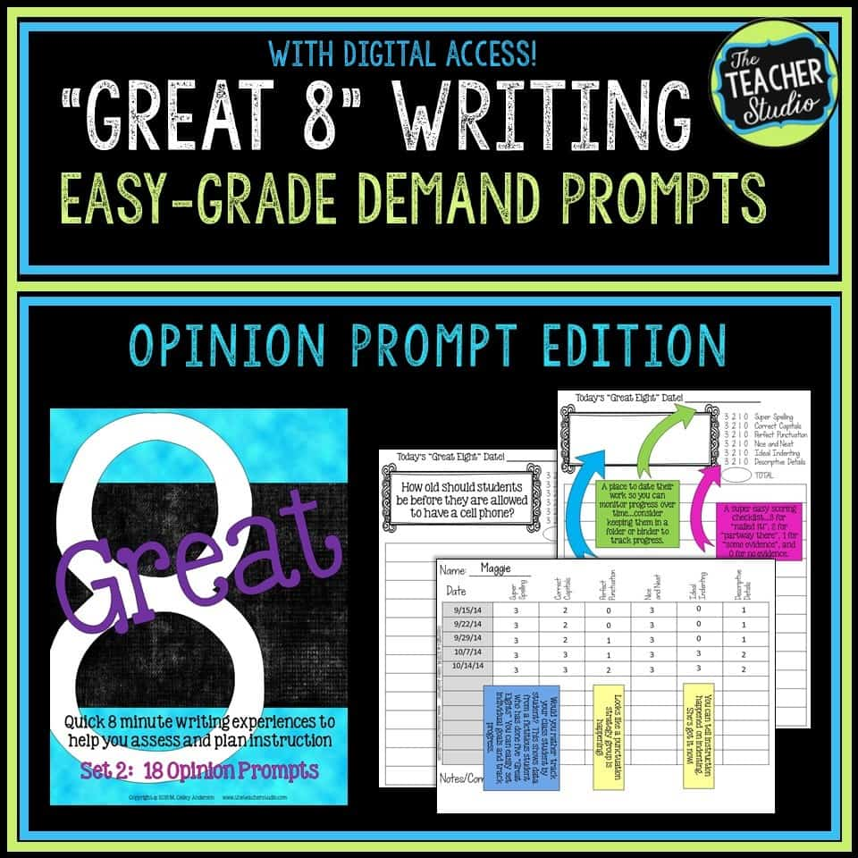 quick writing assessments for opinion writing