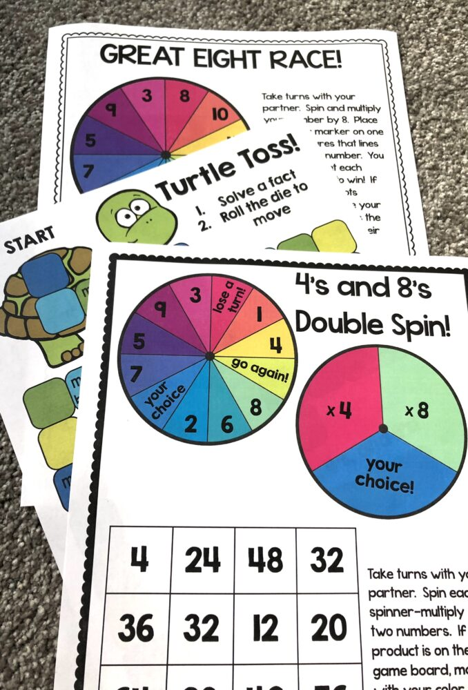 multiplication fact games and activities