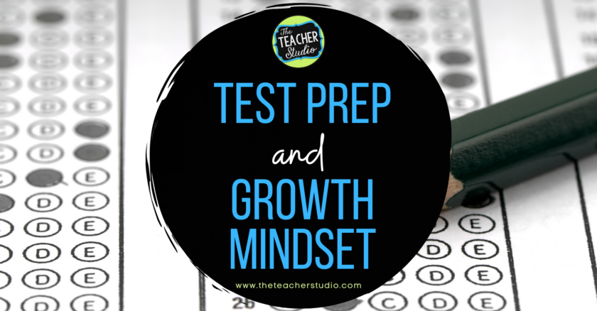 Growth mindset and test prep ideas