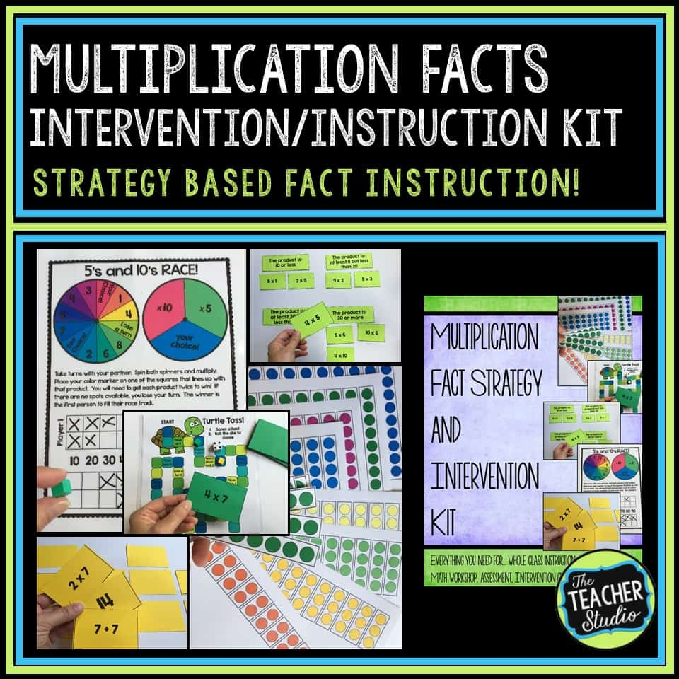 multiplication facts interventions and activities