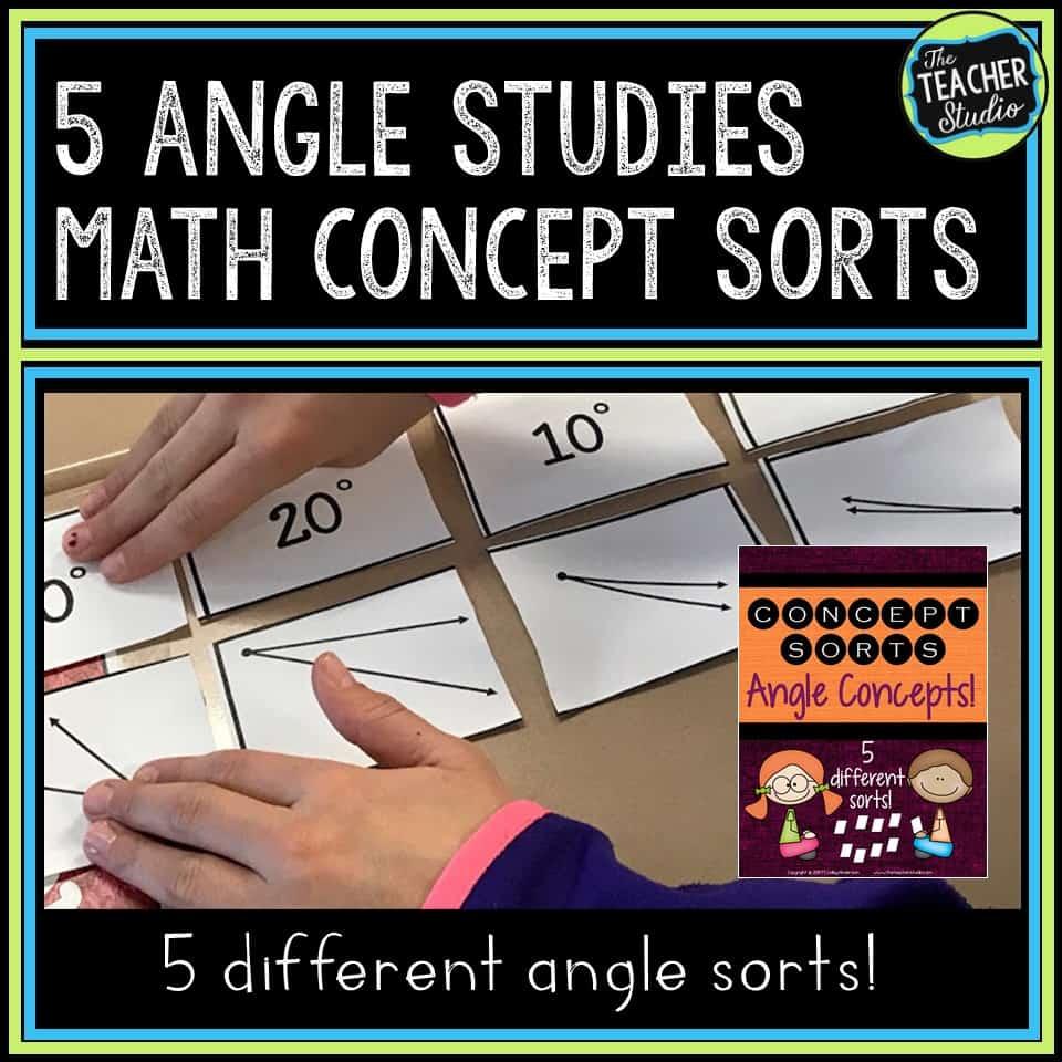 Using math sorts to teach angles
