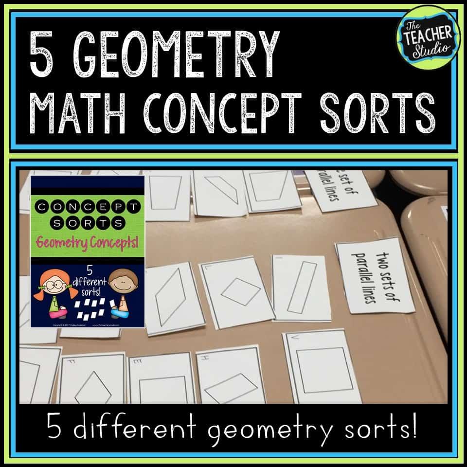 Math sorts to teach geometry