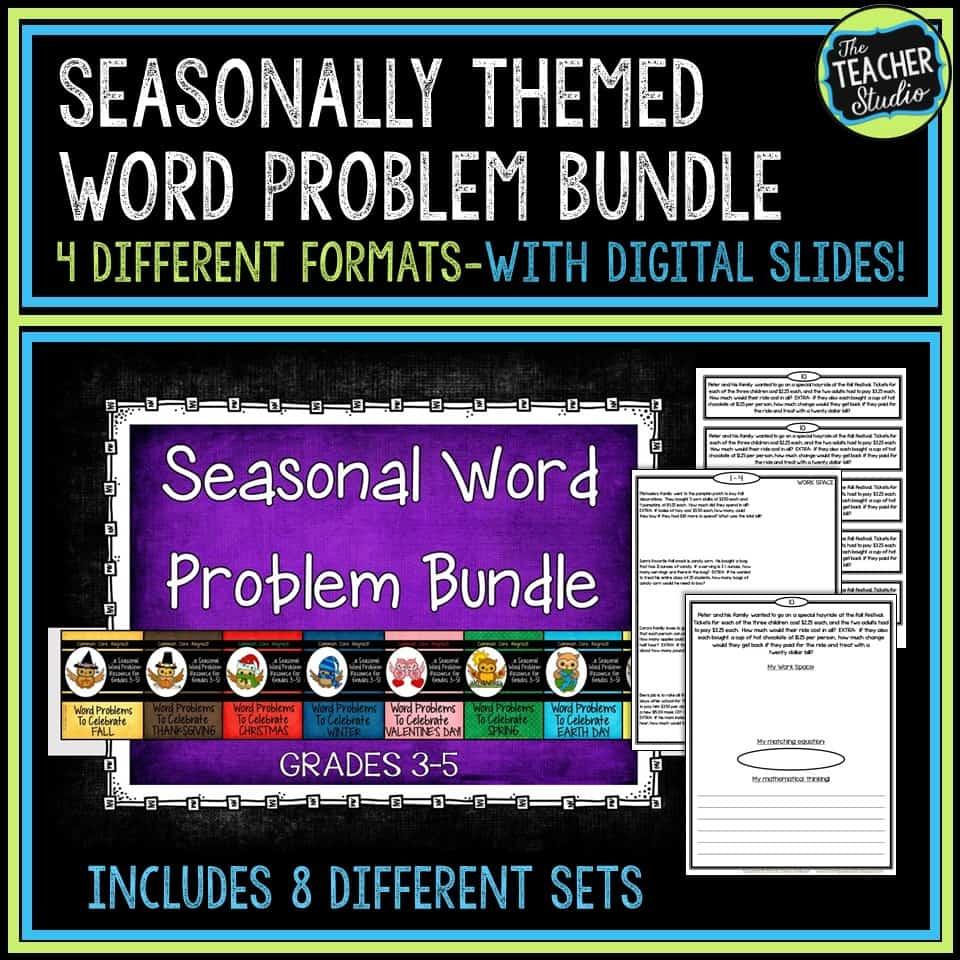 Seasonal Word Problems