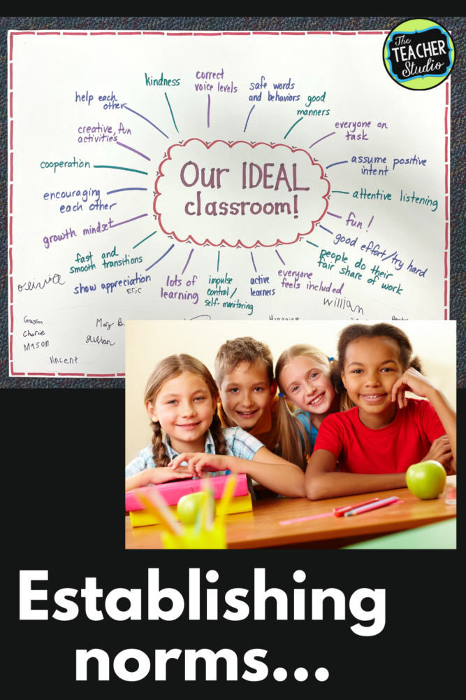 Create classroom norms to build culture