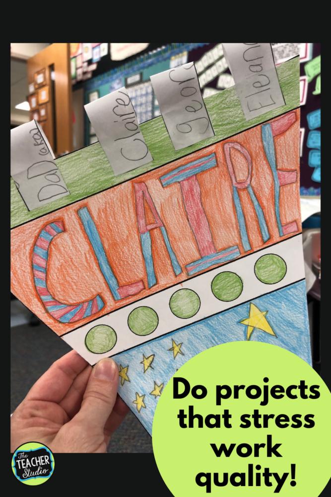 back to school bulletin board project
