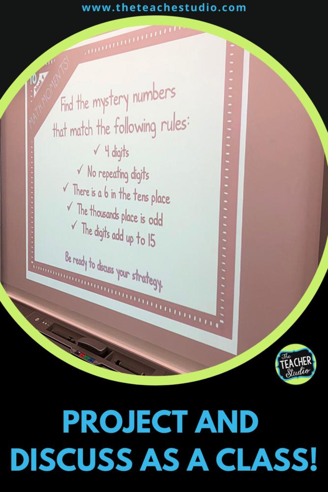Using daily math warm ups