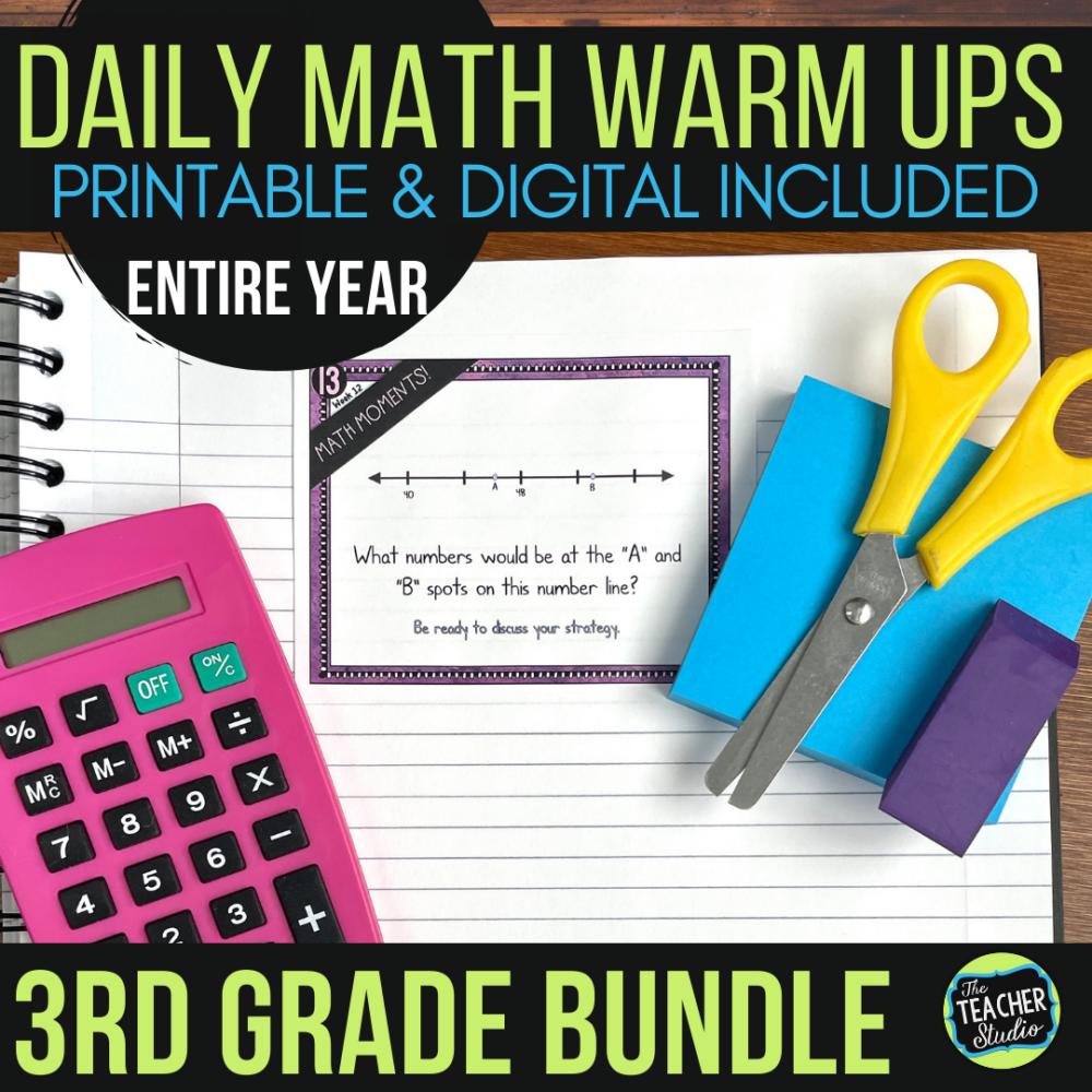 third grade math warm ups