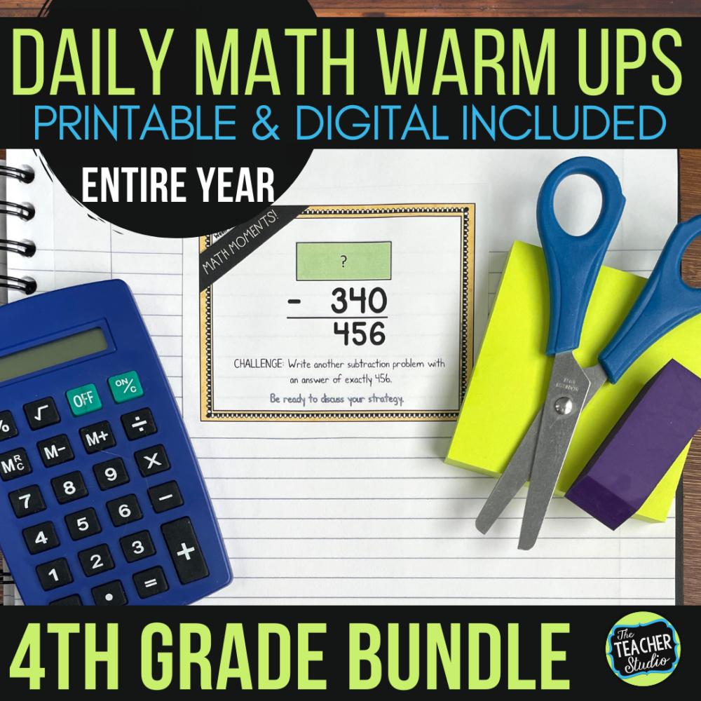 fourth grade math warm jps
