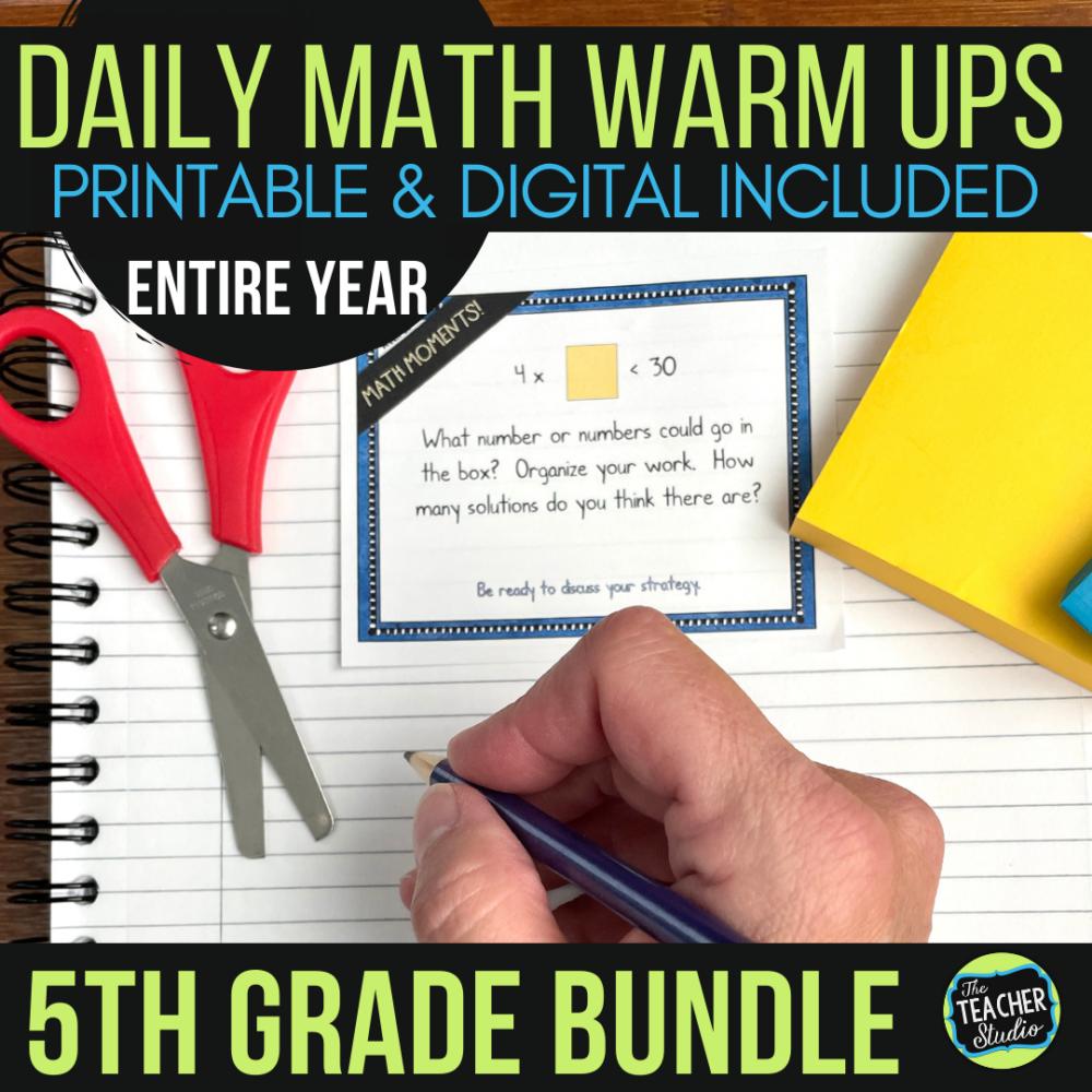 fifth grade math warm ups